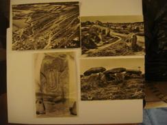 FRANCE - Morbihan - Lot De 4 Cartes De CARNAC ( Dolmen Keriayal /Luffang (Crach)/ Ménec ) - Carnac
