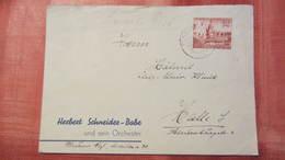 DR 33-45: Fern-Brief Mit 12 Pf Messe EF 27.3.40 Mit Inter. Absender: Herbert Schneider-Babe Und Sein Orchester Knr:741 - Deutschland
