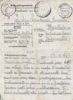 CARTOLINA POW CAMP STALAG X-B/Z WIETZENDORF GERMANIA 1943 X MONTEDORO - 1900-44 Vittorio Emanuele III