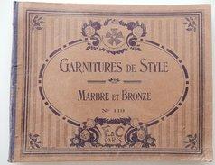 RARE CATALOGUE GARNITURE DE STYLE MARBRE ET BRONZE F ET C PARIS FISSEAU COCHOT HORLOGERIE - France