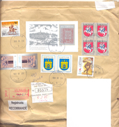 1999. Lithuania, The Letter Sent By Registered Post To Moldova