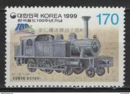 Korea South (1999) Yv. 1857  /  Train - Locomotive - Railway - Tren - Eisenbahn - Trains - Eisenbahnen