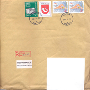2000. Lithuania, The Letter Sent By Registered Post To Moldova - Lithuania