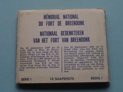 NATIONAAL GEDENKTEKEN VAN HET FORT VAN BREENDONK ( Carnet 10 Snapshots ( +/- 8 X 9,5 Cm.) J. DROESBEKE Merchtem ) !! - Oorlogsmonumenten