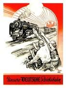 Militaria WW2 -  Photo Affiche Propagande Allemand - Unsere Deutsche Reichsbahn - 1939-45