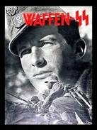 Militaria WW2 -  Photo Affiche Propagande Allemand - Waffen SS - 1939-45