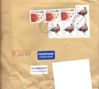 2001. Lithuania, The Letter Sent By Registered Post To Moldova