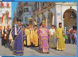 KEPKIPA CORFU PROCESSION OF THE HOLY SPIRIDIONE GREECE POSTCARD UNUSED - Grèce