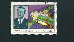N° 109 PA109 Poste Aérienne Soyouz 11 - Portrait V. N. Volkov  Timbre Tchad (1972) Oblitéré - Chad (1960-...)