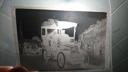 Négatif Ancien Normandie Rouen Automobile Cathédrale 1902 - Automobiles