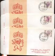 ELSTROM  6 FDC   3,25  7,50  17F  13F  25F  Et 3,25 Militaire - 1971-80
