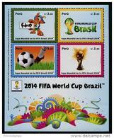 Peru (2014) Yv. Bf. 79  /  Soccer - Futbol - Calcio - Football - FIFA World Cup Brazil - Brasil - 2014 – Brazil