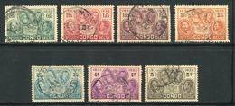 CONGO BELGE- Y&T N°185 à 191- Oblitérés - Congo Belge