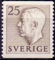 ZWEDEN 1951-1957 25öre Bruin Gustaf VI Adolf Type I PF-MNH