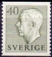ZWEDEN 1951-1957 40öre Olijfgroen Gustaf VI Adolf Type I PF-MNH