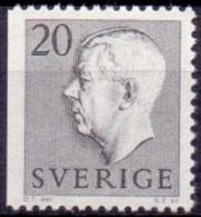 ZWEDEN 1957 20öre Driezijdig Getand Grijs Gustaf VI Adolf Type II PF-MNH