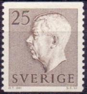 ZWEDEN 1957 25öre Bruin Gustaf VI Adolf Type II PF-MNH