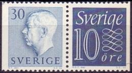 ZWEDEN 1957 30öre Blauw Paar 30+10 Gustaf VI Adolf Type II PF-MNH