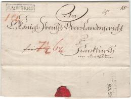 """1829, Kompletter Faltbrief Mit Besserem Rahmenstempel """"""""RADEBERG"""""""" Nach Frankfurt/Oder. - Sachsen"""