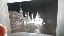 Négatif Paquebot Normandie Poupe Grand Pavois Le Havre CGT Transatlantique Circa 1930 Grue Caillard Pah - Bateaux