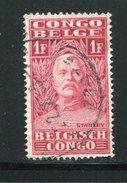 CONGO BELGE- Y&T N°141- Oblitéré - 1923-44: Oblitérés
