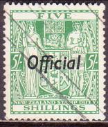"NEW ZEALAND 1938 SG O119 5sh Used Official Wmk ""Single"" CV £65 - Officials"
