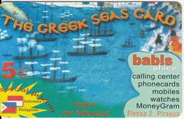 GREECE - Port Of Piraeus, The Greek Seas/Babis Center, Amimex Prepaid Card 5 Euro(807 8075), Sample - Greece
