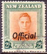 NEW ZEALAND 1947 SG O158 2sh Used Official Wmk Sideways CV £16 Faulted Corner - Officials