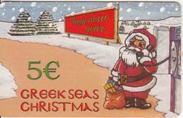 GREECE - Greek Seas Christmas, Amimex Prepaid Card 5 Euro, Sample - Griechenland