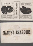 Buvard Troulets (boulets Barrésn Charbon)  Nantes (F.0762) - Blotters