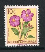 CONGO BELGE- Y&T N°302- Neuf Sans Charnière ** (fleur) - 1947-60: Neufs