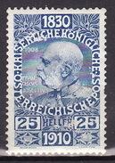 ÖSTERREICH 1910 ANK 169 ,MH* - 1918-1945 1ère République