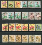 CONGO BELGE- Divers Timbres De 1952- Oblitérés (fleurs) - Congo Belge