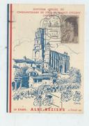 Albi (81) : Souvenir 13ème étape Du Tour De France Cycliste Illustration Cecro CP Com De 1953 (animé) GF. - Albi