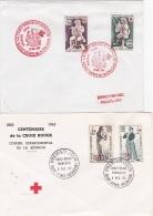 REUNION - CROIX-ROUGE - Joli Lot De 6 Lettres - FDC - Premier Jour - Réunion (1852-1975)