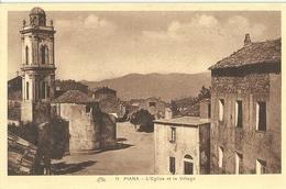 Piana L Eglise Et Le Village - France