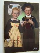 Cp1300 E12  COSTUME BRETON  Enfants De LANGONNET Morbihan 1957 - Kind