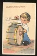 BAMBINI - CHILDREN ENFANTS - KINDER - BAMBINO CHE SUONA LA GRANCASSA - VIAGGIATA 1941 (41) - Dessins D'enfants