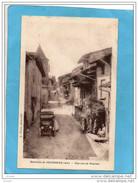 PONCIEU-une Rue Animée -le Boucher Et Sa Camionnette-environs De JUJURIEUX -édition Corne-a Voyagé En1933 - France