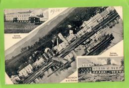 AK - Aschach, Schloss Süd- Und Ostansicht + Totalansicht - Gelaufen 1910