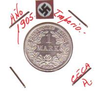 GERMANY - IMPERIO - DEUTSCHES REICH - 1 MARK. AÑO 1905-A - [ 2] 1871-1918: Deutsches Kaiserreich