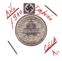 GERMANY - IMPERIO - DEUTSCHES REICH - 1 MARK. AÑO 1910-A - 1 Mark