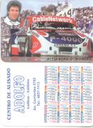 ALEJANDRO OCHIONERO  AUTOMOVILISMO AUTOMOBILISME ALMANAQUE DE BOLSILLO CORREDOR CAR RACES TURISMO CARRETERA ARGENTINA - Kalenders