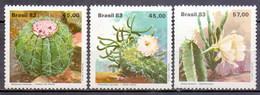 Brazil (Brasil) 1983 Cactus, Flower, Flora, Plant (3v) MNH (M-306)
