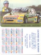 OMAR GURI MARTINEZ  AUTOMOVILISMO AUTOMOBILISME ALMANAQUE DE BOLSILLO CORREDOR CAR RACES TURISMO CARRETERA ARGENTINA - Kalenders