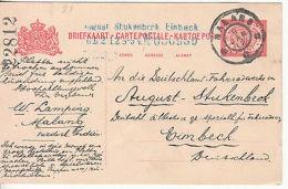 Netherlands Indies: Printed 5c Postcard, Malang To Eimbeck, Germany, 9 Jan 1912 - Netherlands