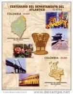 Lote 19j, Colombia, 2005,  Departamento De Atlantico, HF, SS, Maps - Colombia