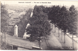 AALST ALOST 1911 Souvenir Zicht Op Het Nieuwe Station / Nouvelle Gare - Uitg. Weduwe Cornelis - Aalst