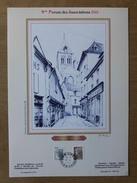 Document à Tirage Limité Avec Illustration De Roland Irolla : Le Clocher De La Collégiale à Saint-Aignan-sur-Cher - Commemorative Postmarks