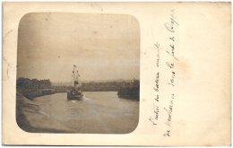 76 DIEPPE - L'entrée Du Bateau Venant De Newhaven Dans Le Port De Dieppe  - Carte-photo (Recto/Verso) - Dieppe